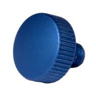 MEC glas Rändelschraube M3 blau